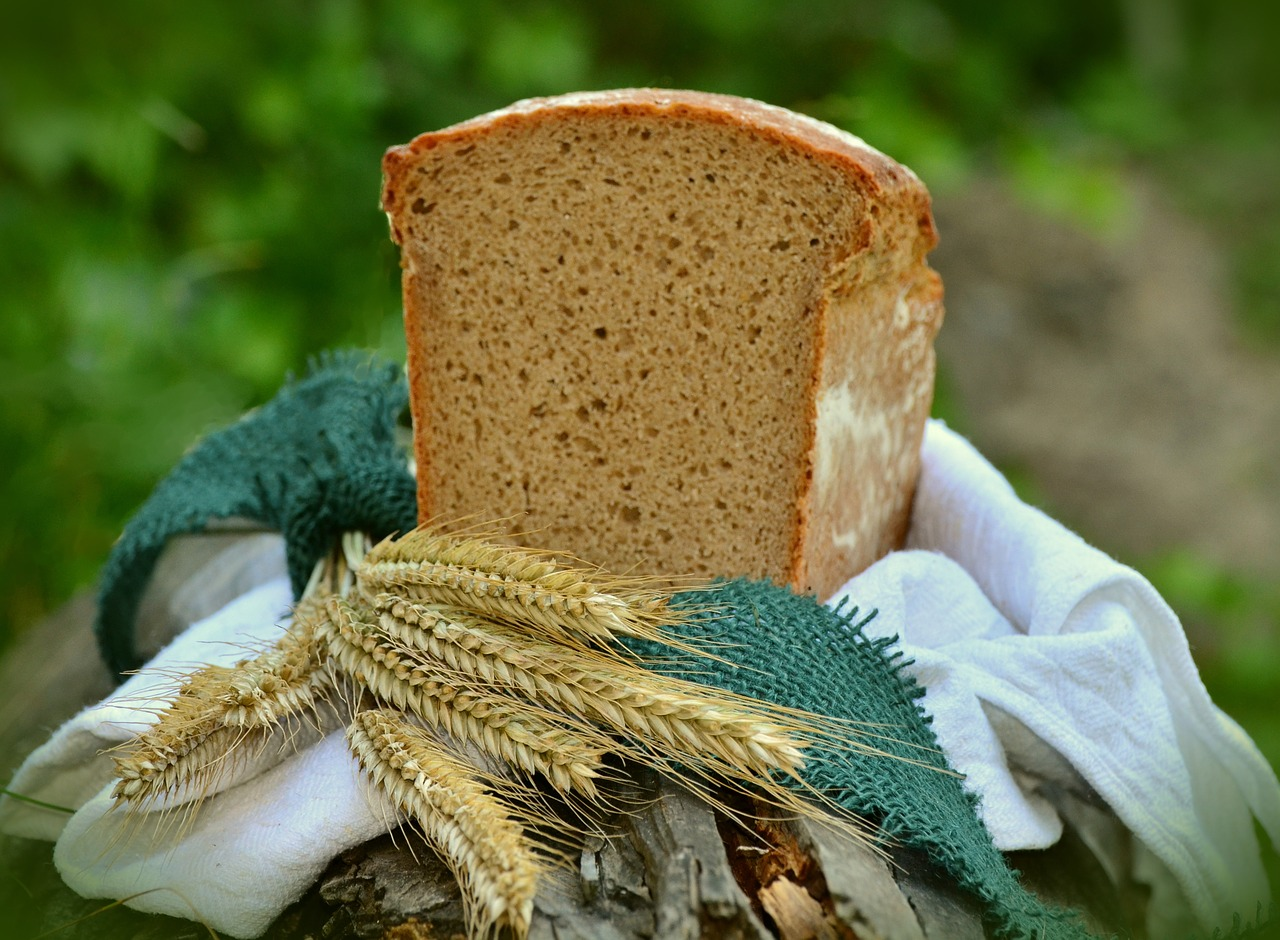 loaf of bread and barley